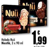 Oferta de Helado Nuii Nestle, 3 x 90 ml por 1,99€