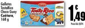 Oferta de Galletas TostaRica Choco Guay Cuétara, 168g por 1,49€