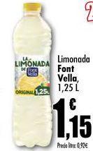 Oferta de Limonada Font Vella, 1,25L por 1,15€