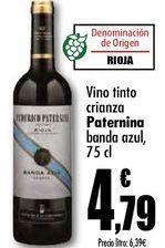 Oferta de Vino tinto crianza Paternina banda azul, 75cl por 4,79€