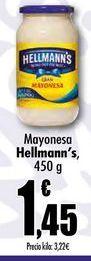 Oferta de Mayonesa Hellmann's, 450g por 1,45€