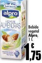 Oferta de Bebida vegetal Alpro, 1 L por 1,75€
