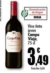 Oferta de Vino tinto joven Campo Viejo, 75 cl por 3,49€