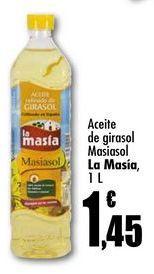 Oferta de Aceite de girasol Masiasol La Masia, 1 L por 1,45€