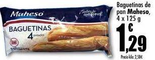 Oferta de Baguetinas de pan Kaheso, 4 x 125g por 1,29€
