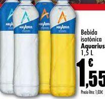 Oferta de Bebida isotónica Aquarius, 1,5L por 1,55€