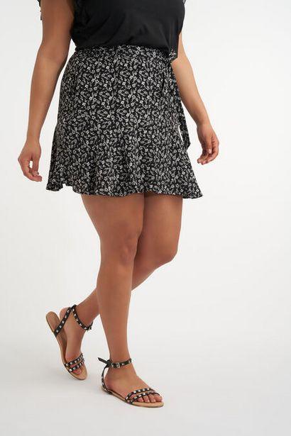 Oferta de Falda pantalón con cinturón de lazo por 20€