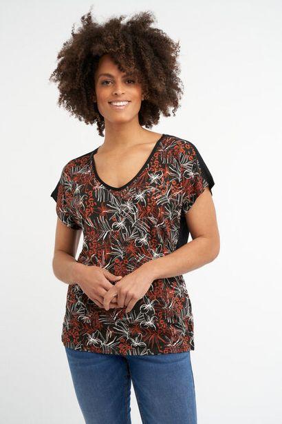 Oferta de Camiseta con estampado botánico metálico por 10€