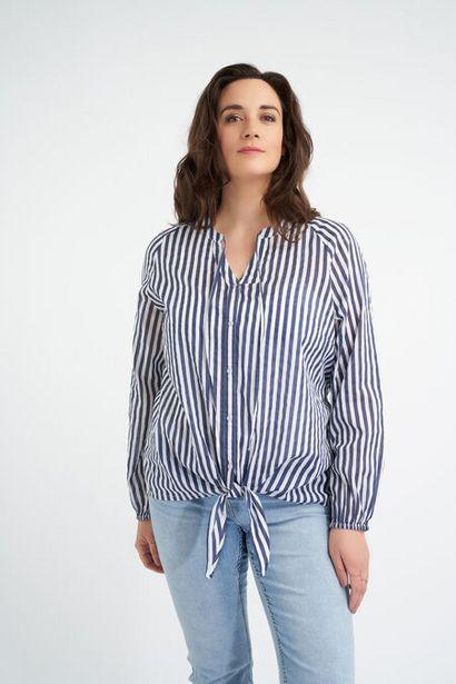 Oferta de Blusa de algodón anudada por 15€