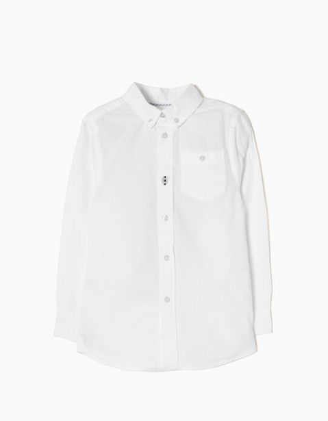 Oferta de Camisa Manga Larga para Niño, Blanco por 14,99€