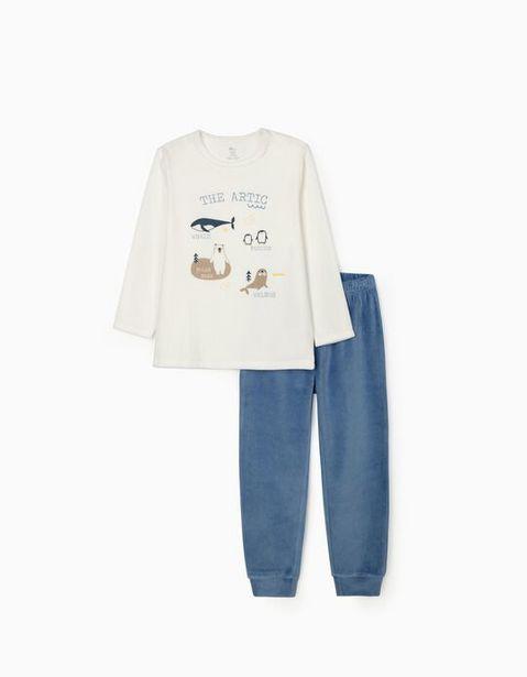 Oferta de Pijama Terciopelo para Niño 'The Artic', Blanco/Azul  por 19,99€