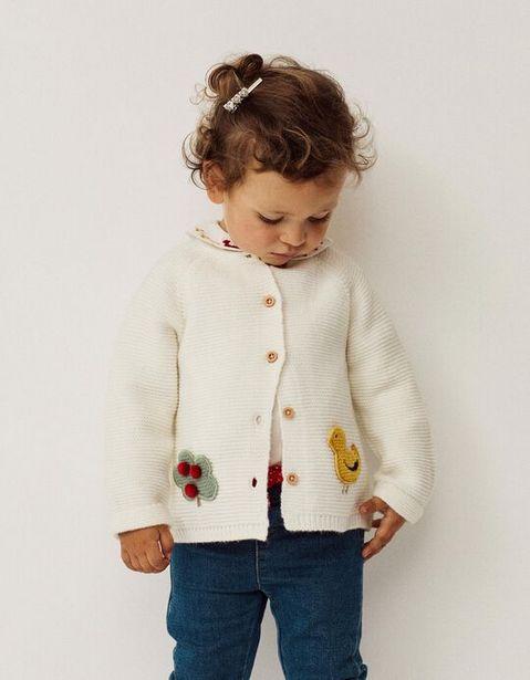 Oferta de Chaqueta de Punto para Bebé Niña 'Duckie', Blanca por 19,99€