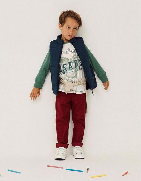 Oferta de Pantalón de Sarga para Niño, Rojo Oscuro por 12,99€