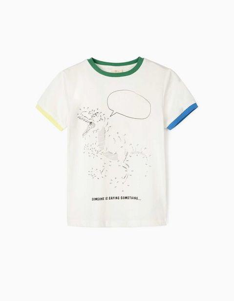 Oferta de Camiseta para Niño 'Someone is Saying Something', Blanco por 7,99€