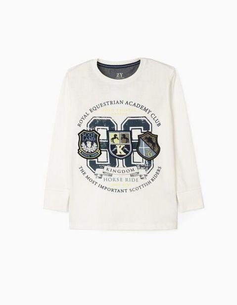 Oferta de Camiseta de Manga Larga Niño 'Horse Ride', Blanco por 12,99€