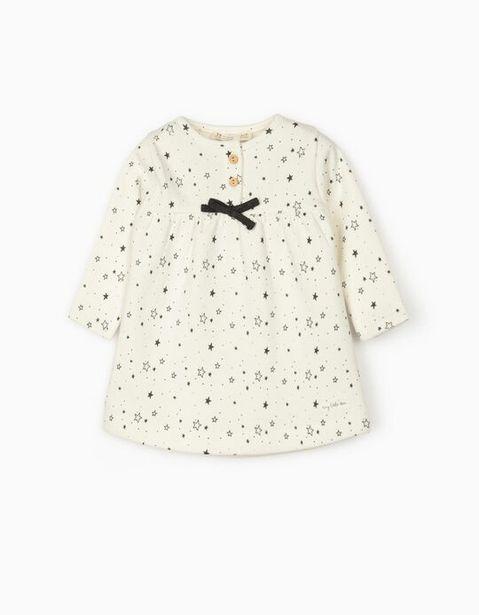 Oferta de Vestido para Recién Nacida 'Stars', Blanco por 7,99€