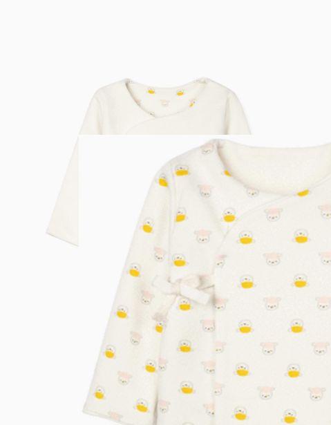 Oferta de Chaqueta Reversible para Recién Nacida 'Bunny & Sheep', Blanco por 22,99€
