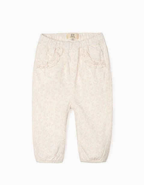 Oferta de Pantalón de Pana para Recién Nacida, Blanco por 17,99€