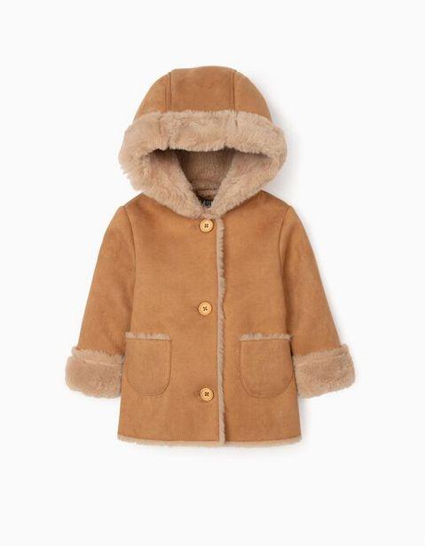 Oferta de Chaqueta de Ante y Pelo para Bebé Niña, Camel por 44,99€