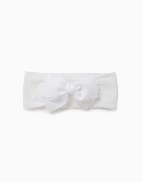 Oferta de Cinta del Pelo con Lacito para Niña, Blanco por 3,99€