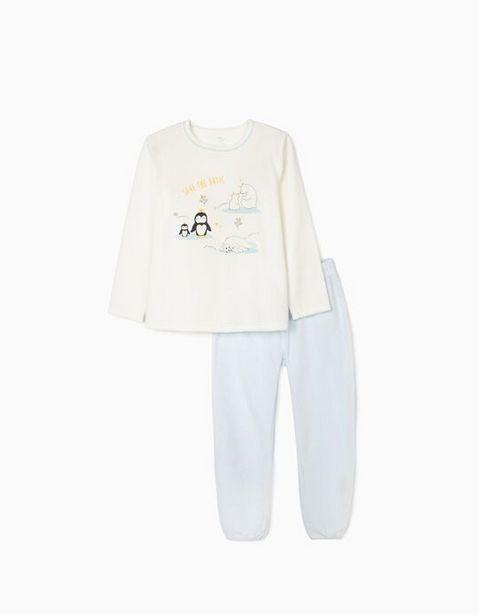 Oferta de Pijama Terciopelo para Niña 'Save The Artic', Blanco/Azul por 19,99€