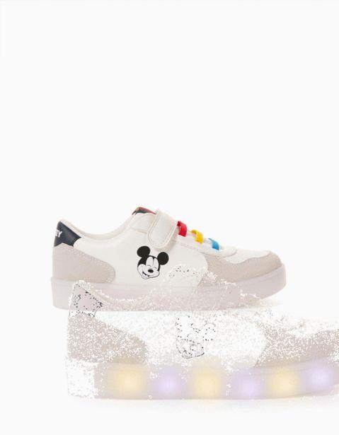 Oferta de Zapatillas con Luces para Niño 'Mickey', Blanco por 34,99€