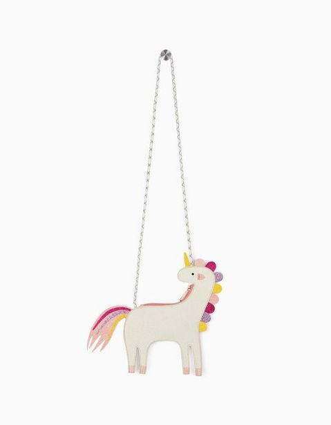 Oferta de Bolso Bandolera para Niña 'Glitter Unicorn', Blanco por 7,99€