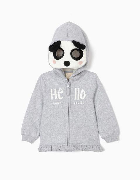 Oferta de Chaqueta con Capucha y Máscara para Bebé Niña, Gris por 22,99€