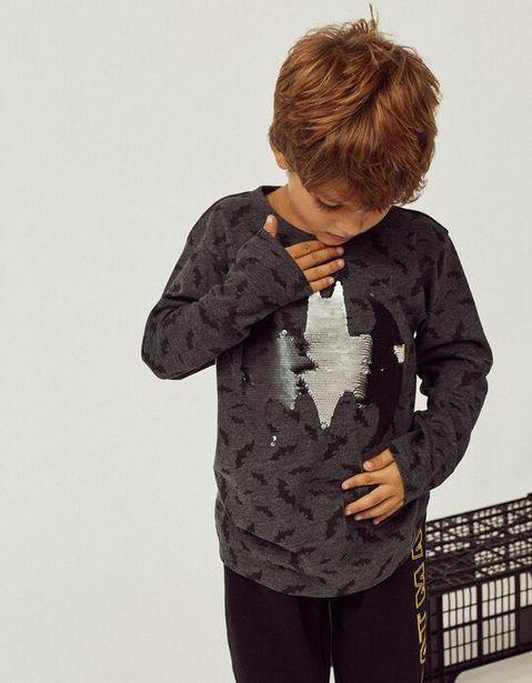 Oferta de Camiseta de Manga Larga para Niño 'Batman', Gris Oscuro por 15,99€