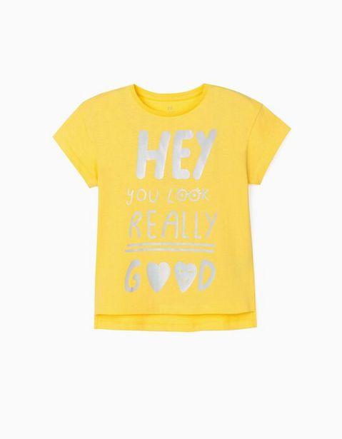 Oferta de Camiseta para Niña 'Hey', Amarillo  por 7,99€