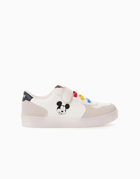 Oferta de Zapatillas con Luces para Niño 'Mickey', Blanco por 29,99€