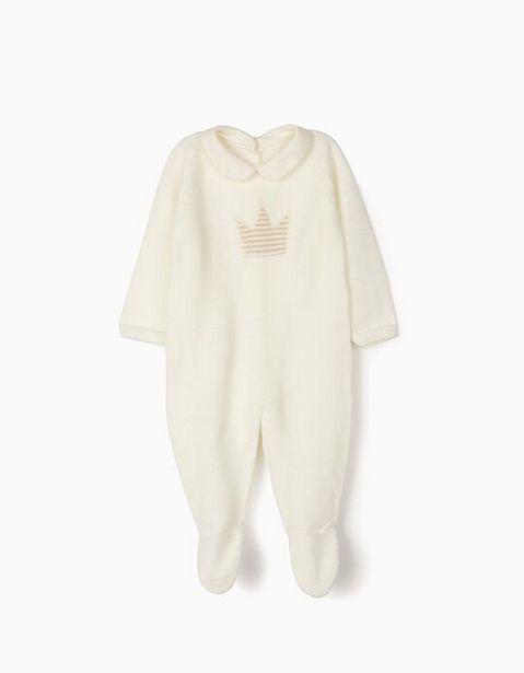 Oferta de Pelele de Punto para Recién Nacido 'Crown', Blanco por 29,99€