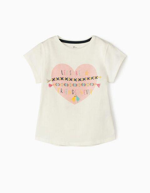 Oferta de Camiseta para Niña 'Friends', Blanca por 7,99€
