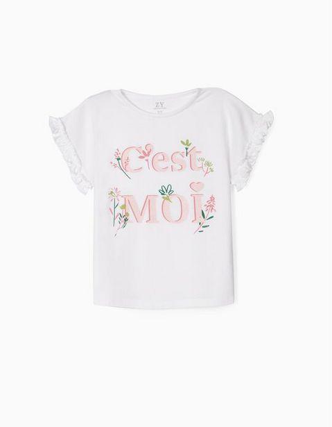 Oferta de Camiseta para Niña 'C'est Moi', Blanco por 7,99€