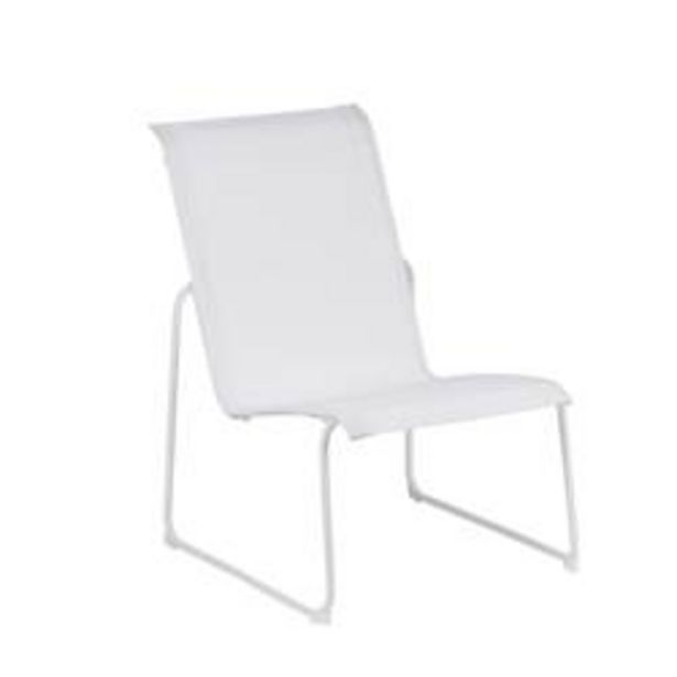 Oferta de HILKE Silla lounge blanco A 84 x An. 75 x P 62 cm por 40€