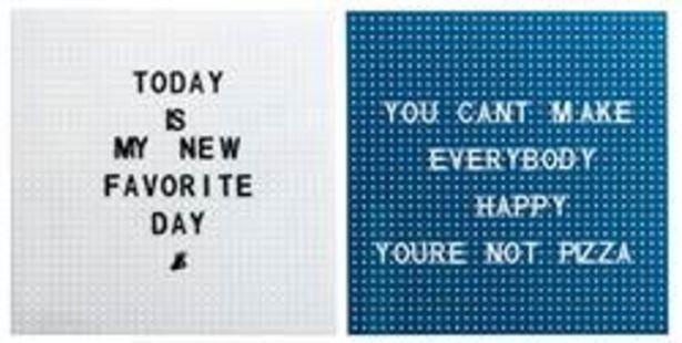 Oferta de PITCH Tablero con letras con 170 letras blanco, azul oscuro A 45 x An. 45 x P 1.2 cm por 7€