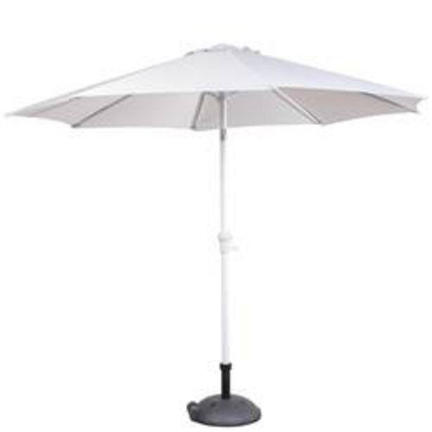 Oferta de ALU Parasol sin pie gris A 240 cm; Ø 300 cm por 69€