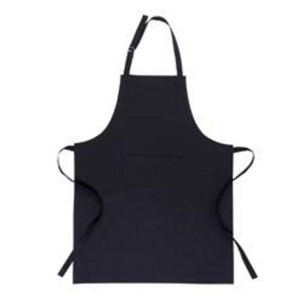 Oferta de BASIC Delantal negro An. 70 x L 90 cm por 11,96€