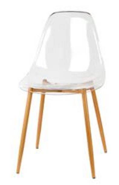 Oferta de ICE Silla de comedor transparente, natural A 83 x An. 47 x P 42 cm por 55,2€