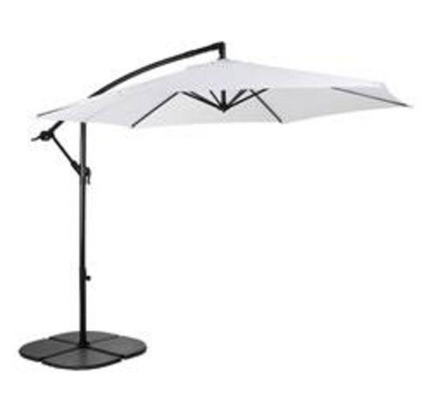 Oferta de HAWAI Parasol colgante sin pie blanco A 243 cm; Ø 300 cm por 80,1€