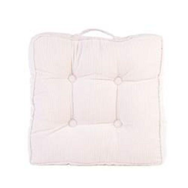 Oferta de CORDUROY Cojín colchón blanco A 8 x An. 45 x L 45 cm por 19,95€