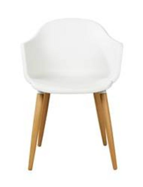 Oferta de ESTORIL Silla blanco, natural A 77 x An. 53 x P 56 cm por 41,3€