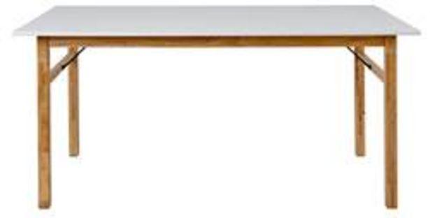 Oferta de BIANCA Mesa blanco, natural A 75 x An. 90 x L 160 cm por 120€