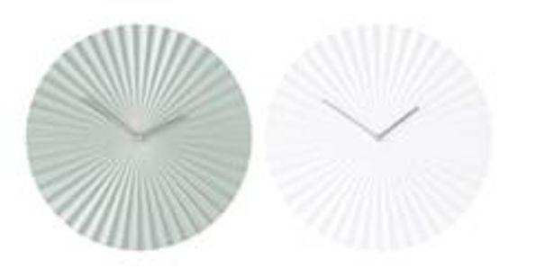 Oferta de PLISSEE Reloj de pared 2 colores blanco, verde P 4,5 cm; Ø 40 cm por 4,48€