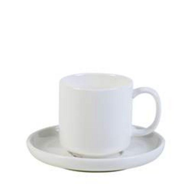 Oferta de MOON Taza y plato blanco A 5.7 cm; Ø 5.6 cm por 2,09€