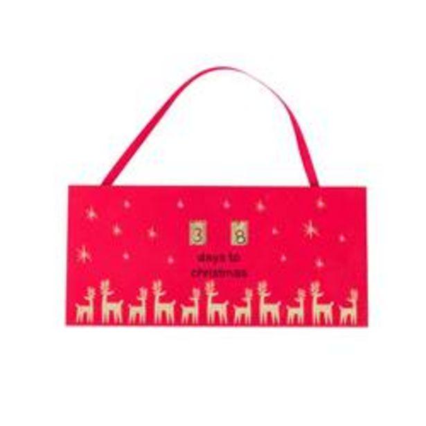 Oferta de MY DEER Calendario de adviento rojo A 9,5 x L 20 cm por 1,5€