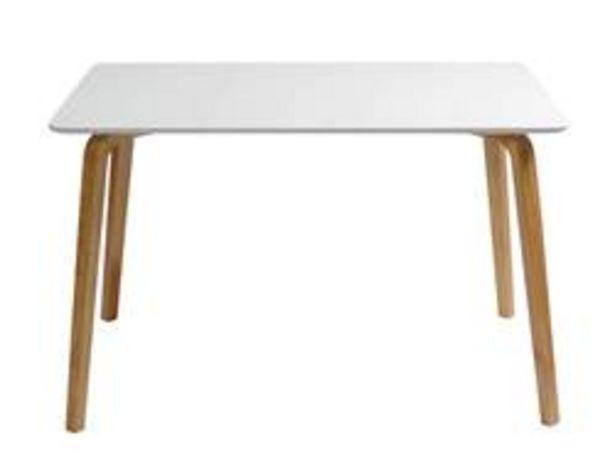 Oferta de MAGNUS Mesa blanco, natural A 75 x An. 80 x L 120 cm por 120€