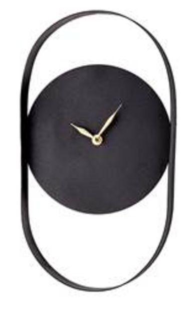 Oferta de OVAL Reloj de pared negro A 36 cm por 11,21€