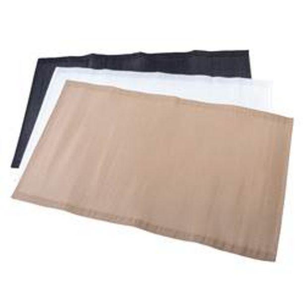 Oferta de BASIK Alfombra para exterior negro, beis, blanco apagado An. 90 x L 150 cm por 6,49€