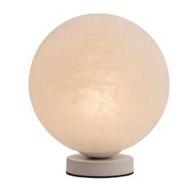 Oferta de LUNA Lámpara de mesa blanco Ø 25 cm por 8,98€